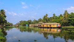 Pristine,Serene..green and clean (Akhil Sanjeev) Tags: alleppey alappuzha houseboat punnadama serene green water lake tourism
