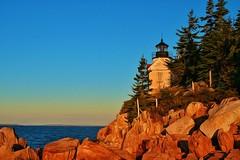 Bass Harbor Head Lighthouse, Maine (amarilloladi) Tags: coastline rockycoastline easterncoast sea ocean atlanticocean acadianationalpark bassharborheadlighthouse bassharbor processed slide maine lighthouses hss