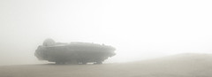 freighter under the (upcoming) sandstorm (jooka5000) Tags: freighter starwars toy jakku tatooine sand sandstorm sky photo photography jooka5000 atmospeheric terrain nature climate wind cinematic widescreen millenniumfalcon