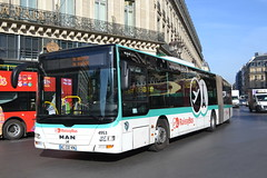 RATP Paris RoissyBus 4953 AC-232-KN (Will Swain) Tags: seen opera 11th april 2017 bus buses transport travel vehicle vehicles county country europe france french paris capital city centre parisien ile de îledefrance île ratp régie autonome des transports parisiens roissybus 4953 ac232kn