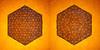 Tessellation Btt-2 (Marjan Smeijsters) (De Rode Olifant) Tags: tessellation marjansmeijsters origami backlight paper paperfolding pattern hexagon triangle tessellationbtt2 butterflymolecule