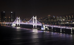 Gwangandaegyo Bridge 부산 광안대교 (Matthew P Sharp) Tags: busan south korea southkorea night bridge