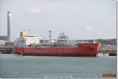 Atlantic Gas, Fawley, June 3rd 2017 b (Bristol RE) Tags: atlanticgas imo tanker oiltanker fawley solent southampton 9662019