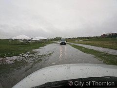 May 18, 2017 - Heavy precipitation causes problems at the rec center fields. (City of Thornton)