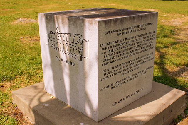Capt. Horace Lawson Hunley & Submarine monument
