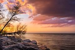 Fifty Point at Sunset No,2 (otterman51) Tags: canada hamilton lakeontario landscape ontario winona fiftypoint lake lakeshore nature seascape spring sunset