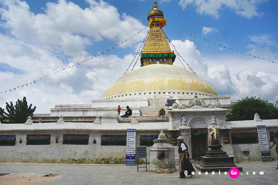尼泊爾加德滿都景點 世界上最大的佛塔 世界遺產博達拿佛塔Boudhanath Stupa