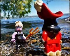 Hello sailor! (Chris Blakeley) Tags: seattle hipstamatic lego ursula captainhook disney minifigure minifig lakewashington water lake