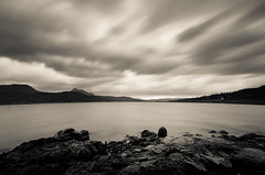 A sepia colored day! (_Amritash_) Tags: asepiacoloredday sepia landscape water lake clouds longexposure rocks stones hills travel maharashtra pavana pawna sahyadri india monochrome monochromemadness
