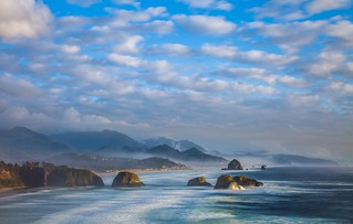 Lifting Storm - Late afternoon lazy light on Cannon Beach