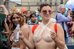 Mermaid Parade 2017 (Samicorn) Tags: nikon nyc newyorkcity brooklyn coneyisland boardwalk mermaids parade mermaidparade 2017 shiny glitter ocean rainy dreary foggy humid pride bodypostivity costumes costume gothamist nudity brokelyn nude