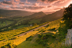 llangollen (paul blakeway) Tags: sky scenic sunset green hills landscape llangollen rocks countryside clouds wales tranquility mountains fields atmospheric