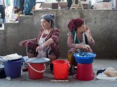 Two Women in the Bazaar in Samarkand, Uzbekistan (deemixx) Tags: vendors market bazaar uzbekistan samarkand centralasia