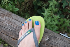 On the way home from the salon (Inesines19) Tags: varnish man nail nails masculine barefoot nailpolish toenails toes tasty toe toenail technician guy sexy today public outdoor cute blue ongles pedicure polish pedi paint straight salon sandal sun feet foot flip flop beautiful grass hot he homme havaianas lovely men male