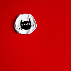 I wanna be your cat (pierre-vdm) Tags: noir rouge blanc black red white schwarz rot weiss nero rosso bianco berlin carré square quadrat chat cat katze gatto kedi