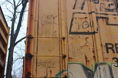 Ghouls, Popquiz, ?, Stoer (NJphotograffer) Tags: graffiti graff trackside railroad rail art freight train bench benching moniker hobo marker streaks box car boxcar the ghouls popquiz stoe stoer cdc crew