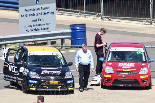 Nathan Edwards and Morgan Jones in the Fiesta championship Class C at Rockingham, June 2017