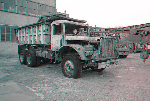 Petite-Rosselle F - Musée Les Mineurs Wendel - Mining Truck Anaglyph 3d