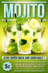 Mojito Flyer Template (XtremeFlyers) Tags: cocktail flyer menu mojito party poster psd template