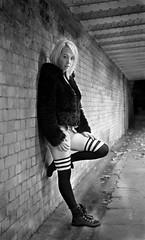 Daisy bright (spencerrushton) Tags: spencerrushton spencer rushton canonlens canon colour canonl blackandwhite beautiful black walk white bw monochrome manfrotto manfrottotripod london londonuk londonnight light night uk lady purpleport 24105mm canon24105mmlf4 5dmkiii canon5dmkiii land girl female people hotgirl hot sexy stockings londonatnight woman women shortdress dress blonde outdoors winter