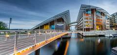 Astrup Fearnley Museet (Ajnaraja) Tags: astrup fearnley museet oslo hdr longexposure color sky aker brygge panorama bridge bracketing boat