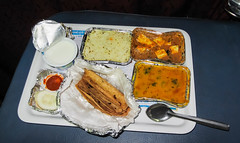 IMG_42996 (Manveer Jarosz) Tags: bharat hindustan india indian indianrailways bed berth chaaval dahi dinner evening food meal night paneer plate rice roti subji train travel vegetarian