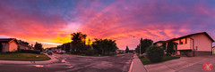Panoramic view (Kasia Sokulska (KasiaBasic)) Tags: fujix canada alberta edmonton sky weather sunset clouds storm residential street