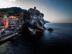 Vernazza, Cinque Terre, Italy (MegaloPhotography) Tags: vernazza cinque terre cinqueterre laspezia italia italy tuscany landscape travel travelphotographer sunrise dawn water ocean rock riceterrace drone dji phantom4 djiglobal aerial fpv aov quadcopter