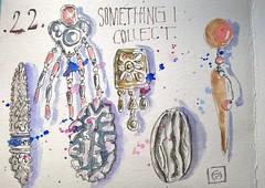 EDM 2017. Day 22. Something I collect. (couleur.indigo) Tags: carnet croquis aquarelle feutre edm écriture