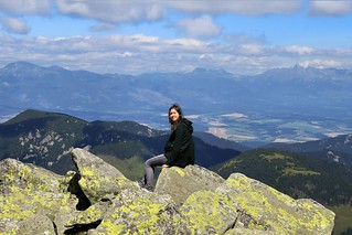 Enjoying a view from the Low on the High Tatra mountains
