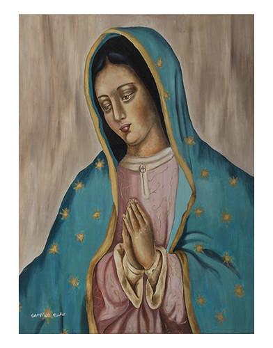 Autor: MA DEL CARMEN NUÑO SANCHEZ, Hermosa Madre  70x60 cm