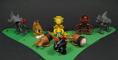 Lisa`n the Mad Master Geneticist (Karf Oohlu) Tags: lego moc minifighead modifiedminifig geneticist crazycritters mutation