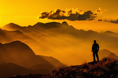 When life is worth it (Valter Patrial) Tags: mountains sunset silhouettes landscapes land inexplore