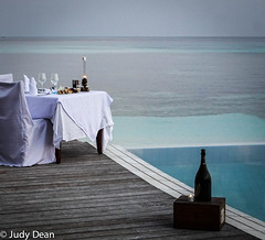Dinner by the pool (judy dean) Tags: judydean 207 maldives table sea ocean pool dinner champagne celebration