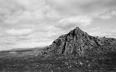 Kjalhraun (IggyRox) Tags: iceland island scandinavia europe north highlands kjolur arnessysla hveravellir nature beauty film 35mm mountains sky clouds hike blackandwhite monochrome kjalhraun lava field formation rock creation