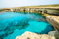 At the Sea Caves (George Plakides) Tags: caves water clear crystal ayianapa cyprus cavo greco greko swim holidays vacations
