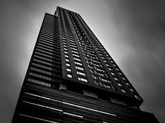 Tour des Canadiens (s.W.s.) Tags: canada city urban architecture building blackandwhite skyscraper montreal up neutraldensity ndfilter quebec lightroom nikon d3300