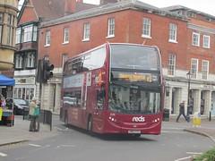 Wilts & Dorset 1576 HW63FGV Minster St, Salisbury on R1 (1280x960) (dearingbuspix) Tags: goahead gosouthcoast wiltsdorset salisburyreds reds red1 1576 hw63fgv