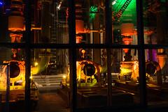 Duisburg - LaPaDu (YvoWupp) Tags: deutschland landschaftsparkduisburgnord night architecture places olympus omd10 mft germany 1442mm europe europa duisburg nacht