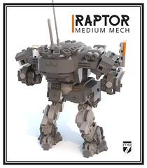 Raptor Medium Mech (Ariklego) Tags: lego mech mecha robot walker