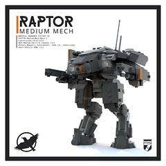 Raptor Medium Mech (Ariklego) Tags: lego mech mecha robot walker foitsop