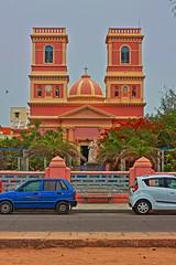 Church of Notre Dame HDR (Balaji Bharadwaj) Tags: hdr church notredame pondicherry seaside beachside