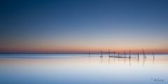 summerlight at sea (Just me, Aline) Tags: 201705 alinevanweert le leefilter leefilters rockanje zuidholland beach langesluitertijd longexposure sea strand sunset zee zonsondergang littlestopper 9ndhg minimalism minimalisme