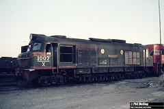 1552 X1007 Forrestfield Loco Depot 27 December 1980 (RailWA) Tags: railwa philmelling westrail 1980 x1007 forrestfield loco depot