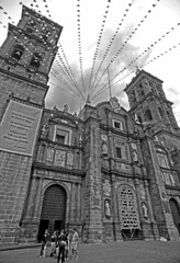 Cathedral of Puebla (tacosnachosburritos) Tags: mexico puebla ciudad urban gritty thestreets street photography man guy caballero bad hombre señor girl chick chica mujer woman lady architecture walking hangingout humanity trees tropical beautiful handsome suave bonita sexy caliente guapo southoftheboarder cincodemayo mexicans church iglesia