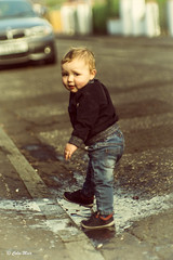 Caught! - (Jupiter 9) - 2017-05-30th (colin.mair) Tags: jupiter9 f2 sony ilce6000 m42 prestwick ussr russian manual lens grandson street puddle