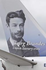Georg Brandes - Danish literary critic (A380spotter) Tags: tail tailfin verticalstabiliser empennage horizontalstabliser elevator tailplane tailcone rudder exhaust auxiliarypowerunit apu boeing 737 800wl eifhr lndyj georgbrandesdanishliterarycritic norwegiancom norwegainairinternationalltd ibk d8 d82418 lgwlpa apron gate5 stand05m pier1 southterminal london gatwick egkk lgw