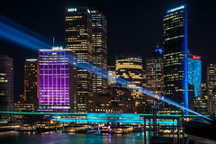 Light projections in the City at Vivid Sydney Festival (danielacon15) Tags: 2017 architecture australia australian building circularquay city cityscape colorful contemporary harbour light lights modern night sydney travel urban art artistic bay beams bright businessdistrict celebration color designs entertainment evening festival icon illuminated illumination landmark longexposure nightlife projections reflections structures tourism vacation view vivid water waterfront