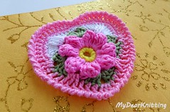 Easy crochet heart tutorial (MyDearKnitting) Tags: crochet heart tutorial flower granny square pattern lesson video instruction valentine valentines motif doily love hearts tutorials work leave leaves crab stitch reverse single yellow pink green white design designs project projects favorite best fantazy new mydearknitting free neat amazing adorable