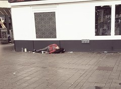 PART ONE --- at the bottom! (From The Streets Of Hamburg) Tags: fromthestreetsofhamburg stgeorg streetsleeping homeless obdachlos penner schlafenaufderstrasse